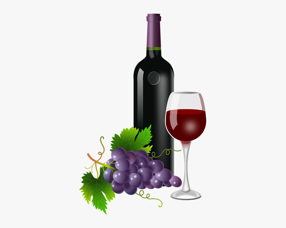 Glass bottle vine and. Grapes clipart wine grape