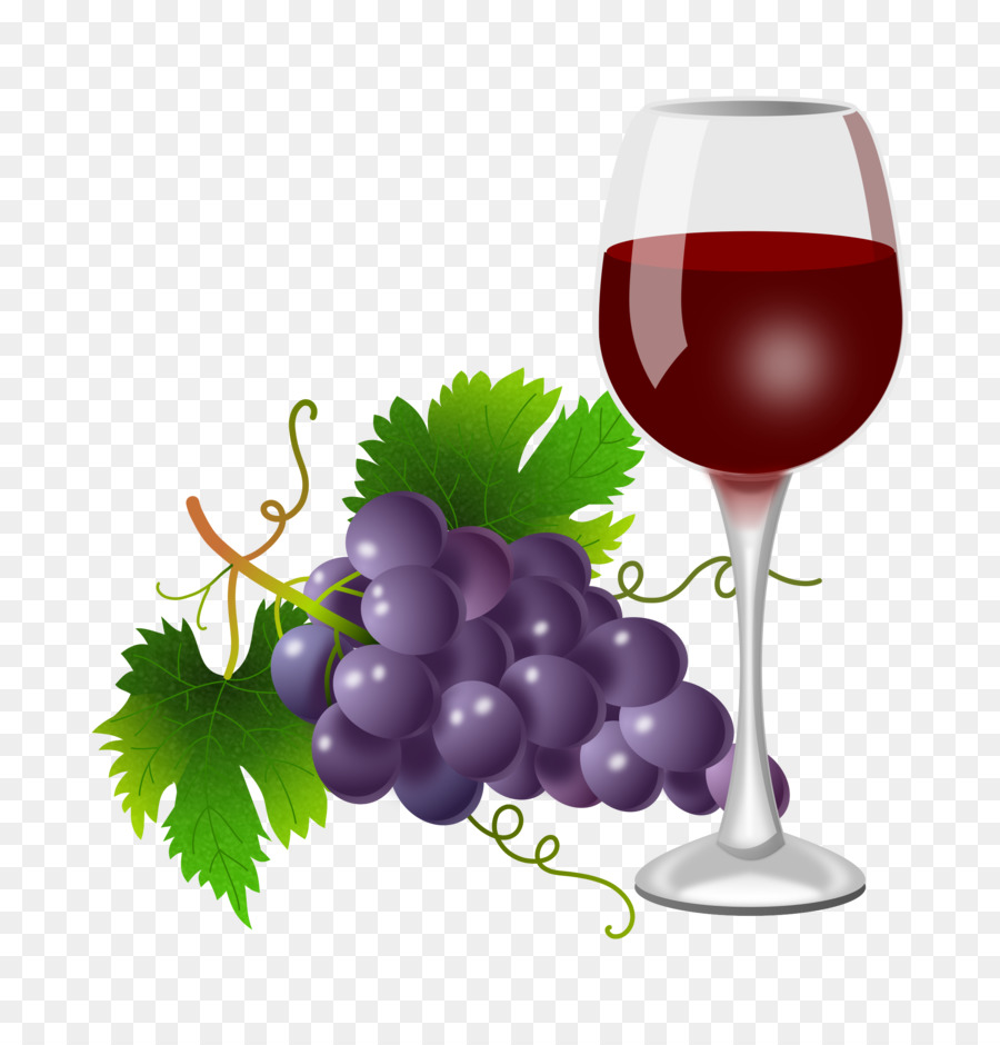 Grapes clipart wine grape. Cartoon glass transparent clip