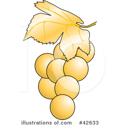 Grape clipart yellow. Illustration by dennis holmes