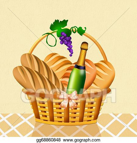Grapes clipart bread. Wine and in the