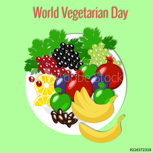 World vegetarian day picnic. Grapes clipart date fruit