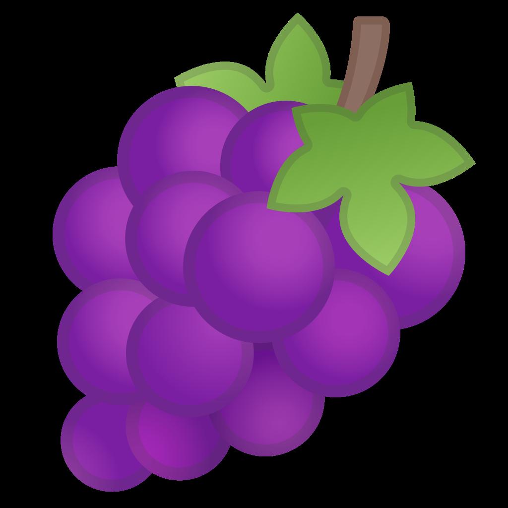 Icon noto emoji food. Grapes clipart grape soda