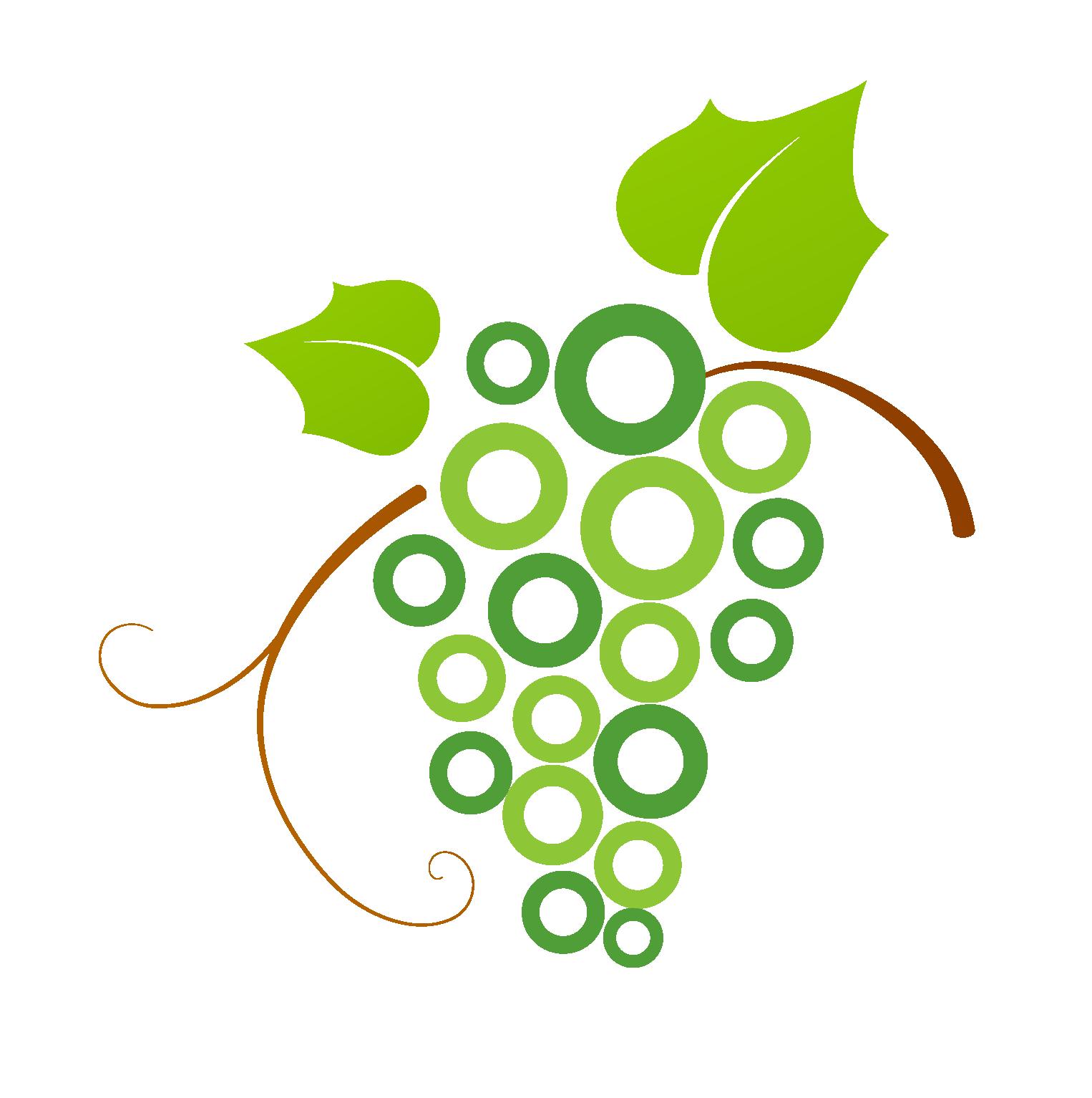 Grapes clipart watermelon vine. Logo common grape green