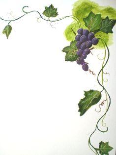 Grapevine clipart. Grape border pinterest clip