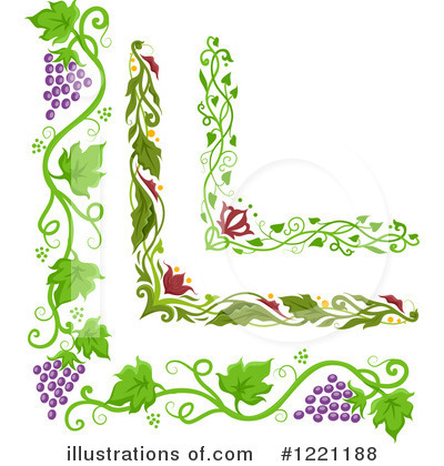 Grapevine clipart. Illustration by bnp design