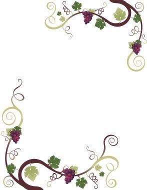 Grape border pinterest clip. Boarder clipart vine