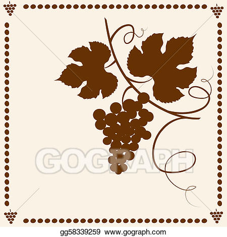 Clip art vector vines. Grapevine clipart grape garden