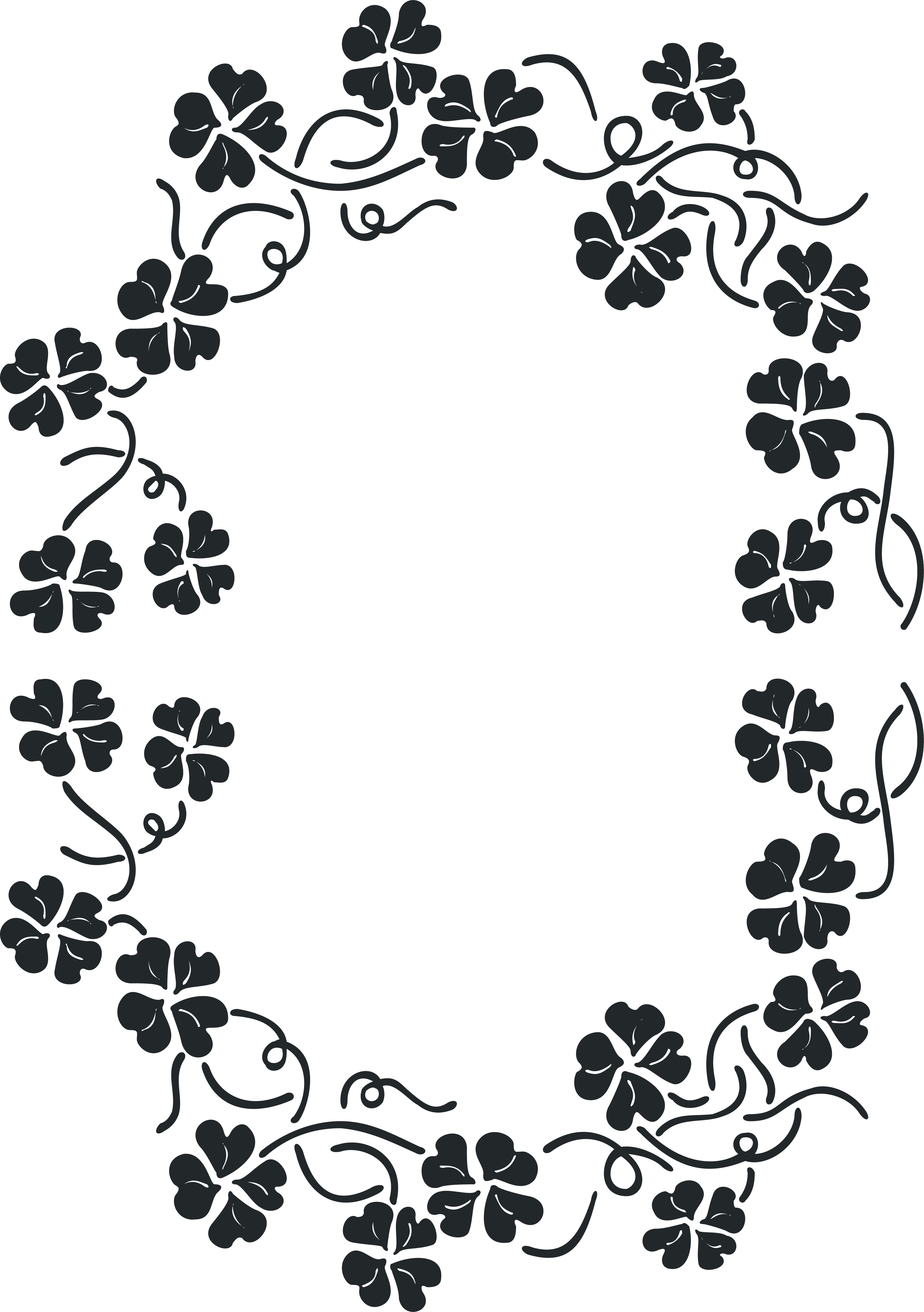 Circle decorative arts drawing. Lace clipart black and white