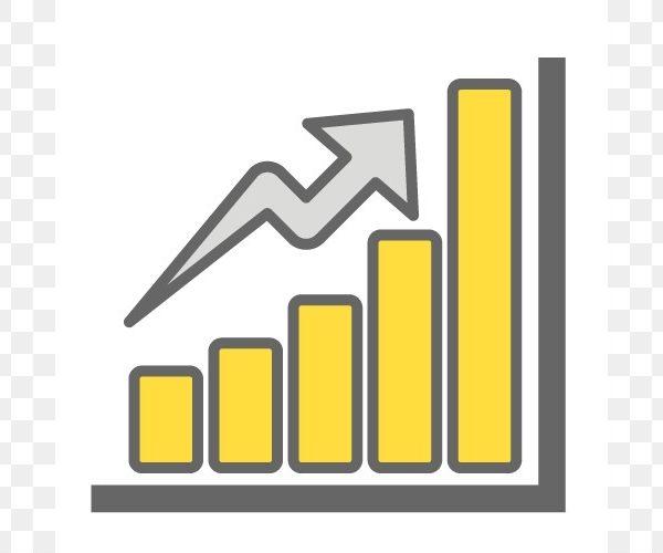 Graph clipart art. Bar chart clip icon