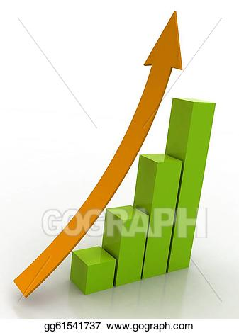 Graph clipart buisness. Business stock illustration gg