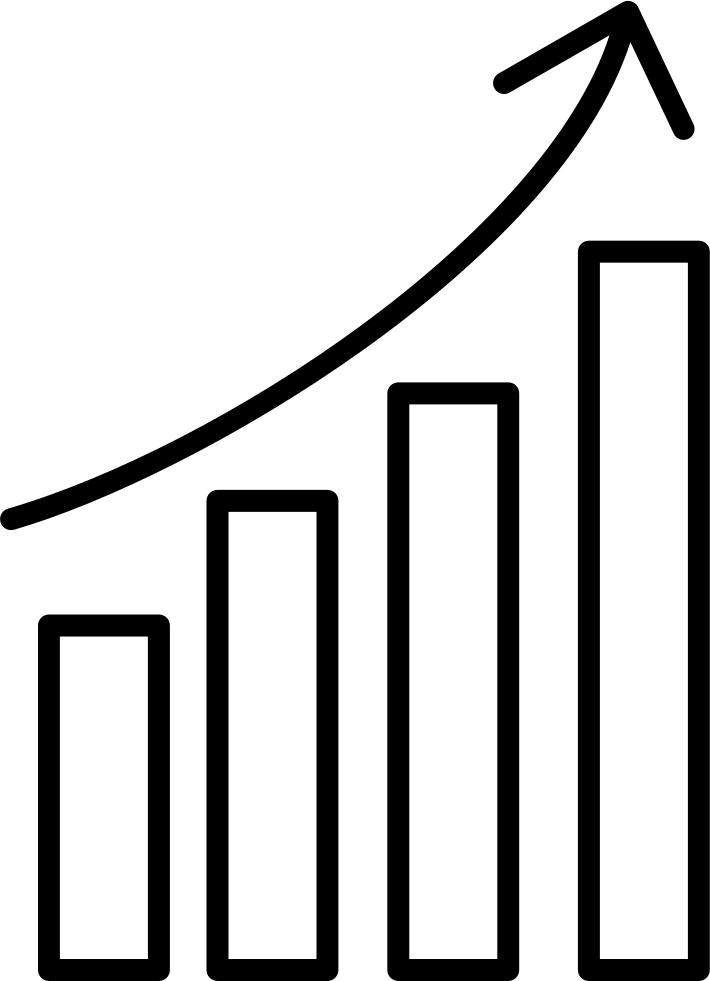 Upgoing bars chart svg. Graph clipart data analytics