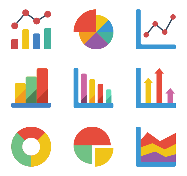 Graph clipart data analytics.  icon packs vector