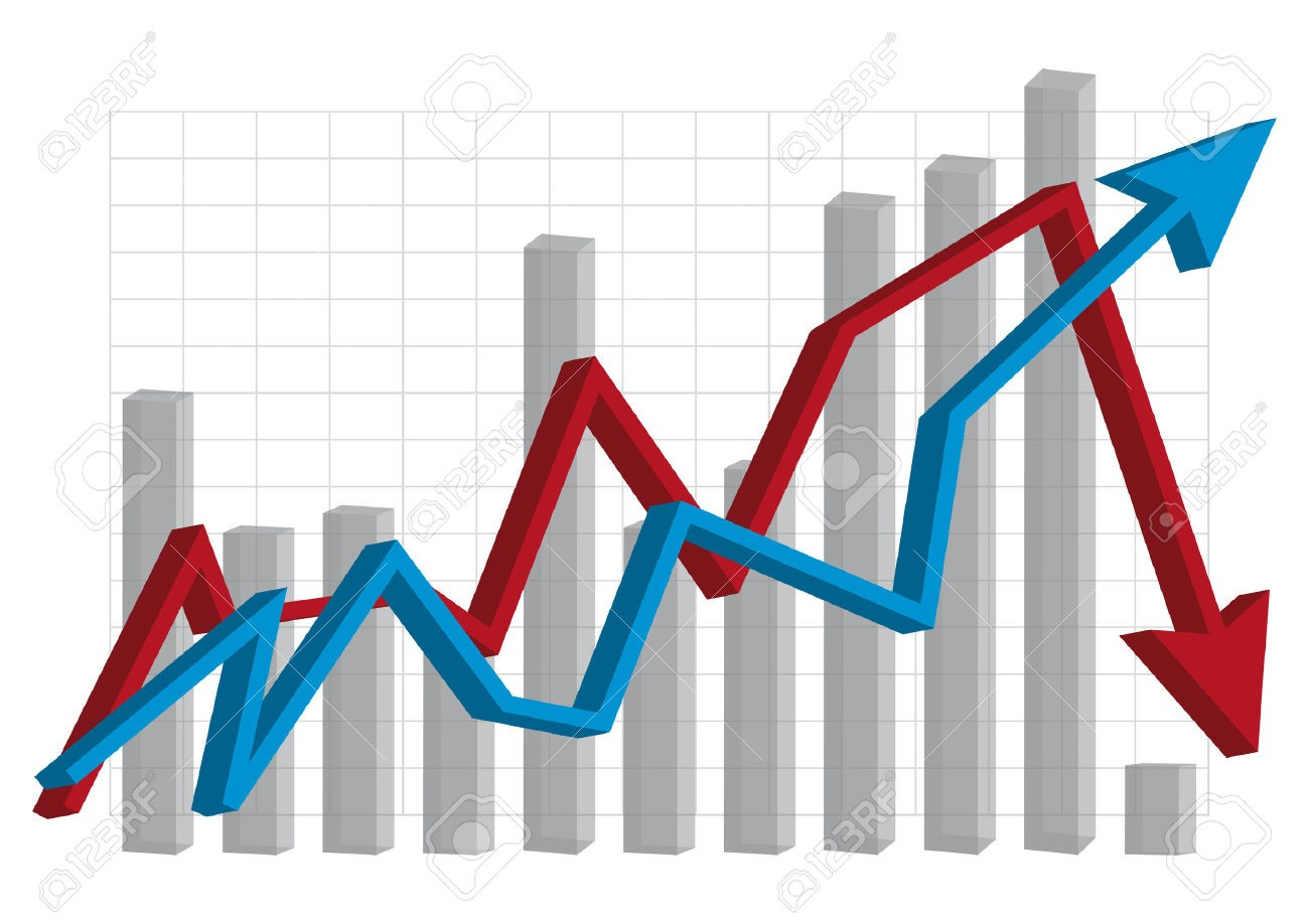 With cartoon of economics. Graph clipart economic graph