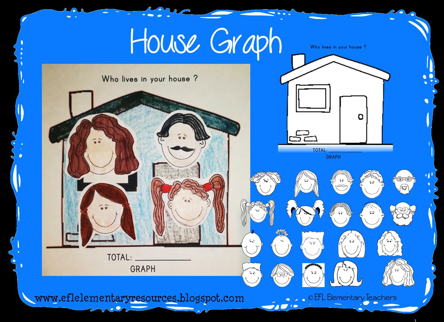 Graph clipart elementary. Efl teachers house theme