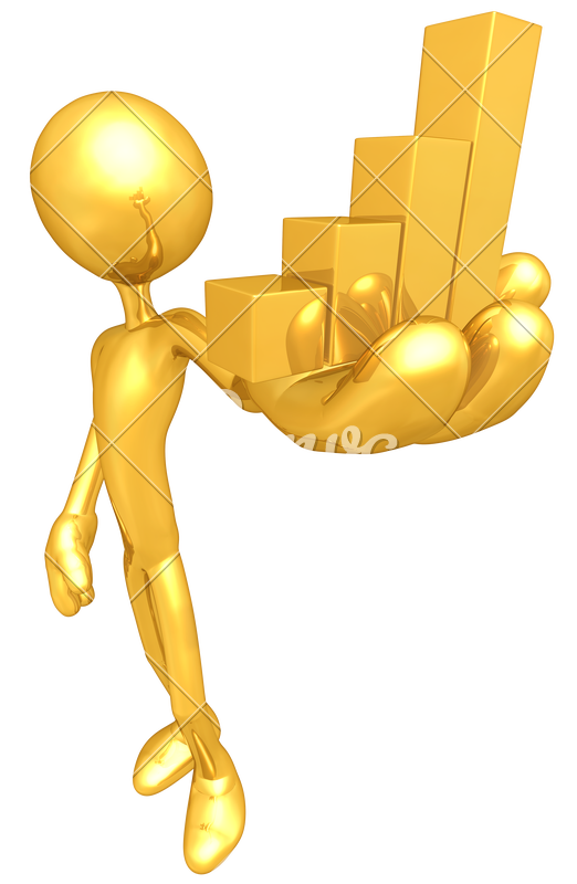 Graph clipart financial health.  d golden man