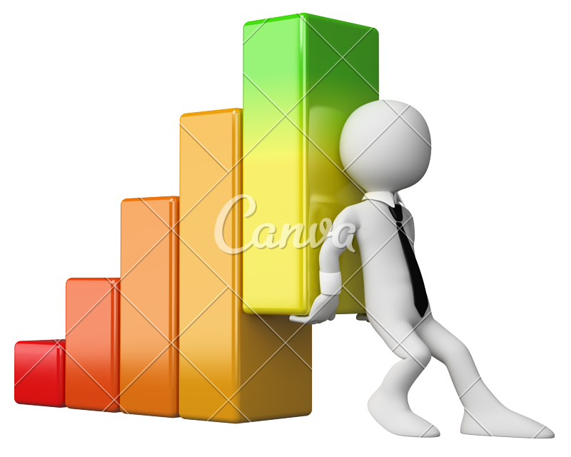 d economy bar. Graph clipart financial health