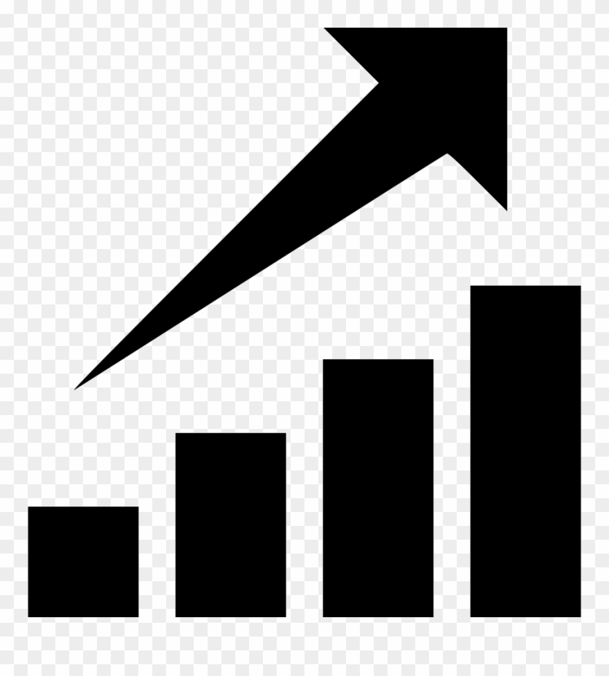 Graph clipart growth graph. Chart stock comments icon