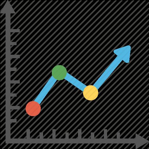 finance by vectors. Graph clipart line graph