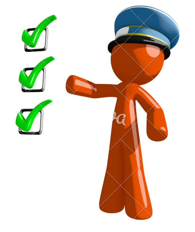 Mail clipart postal worker. Orange man pointing green