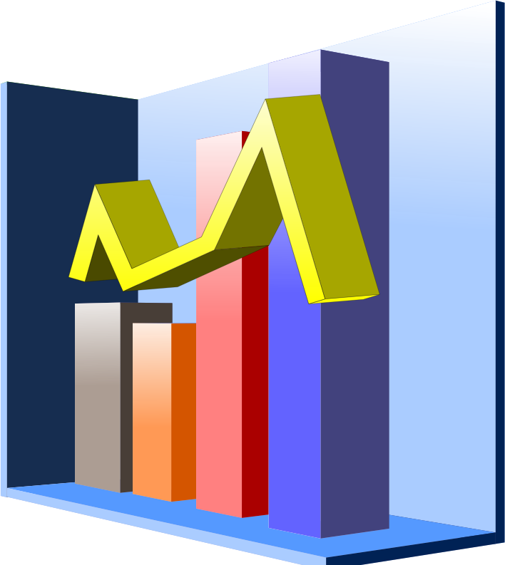 Graph small bar free. House clipart diagram