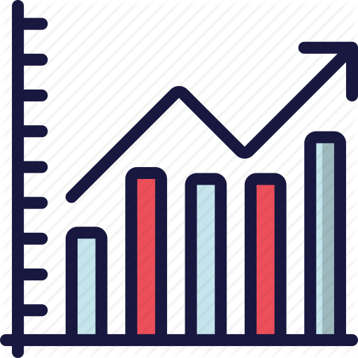 data science blue. Graph clipart positive graph
