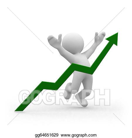 Stock illustration gg . Graph clipart positive graph