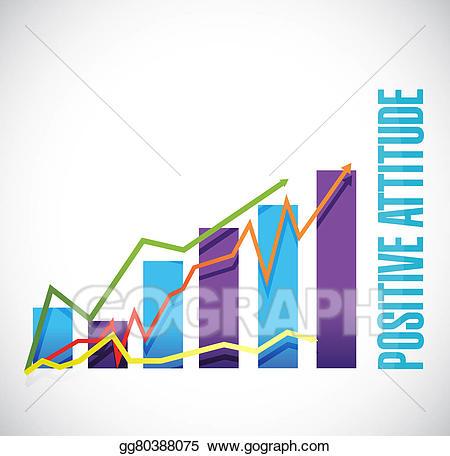 Graph clipart positive graph. Attitude business sign concept
