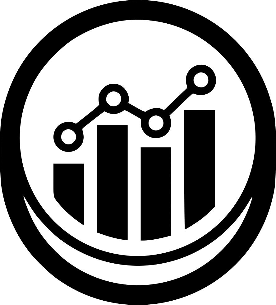 Development growth optimization svg. Statistics clipart performance graph