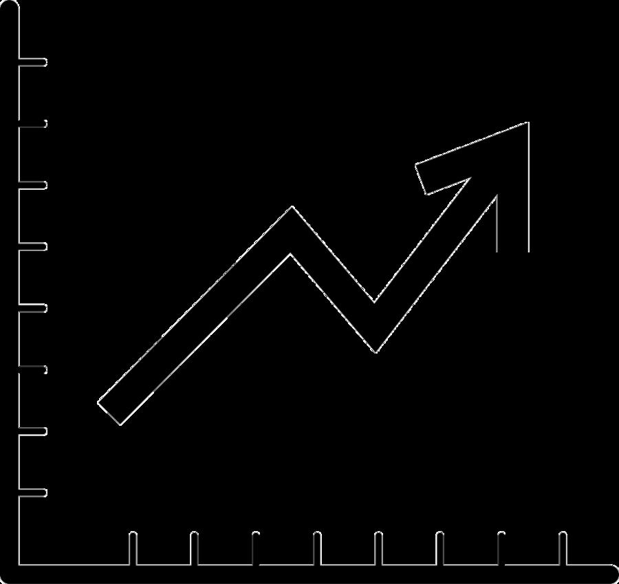 Graph clipart transparent. Black line background chart