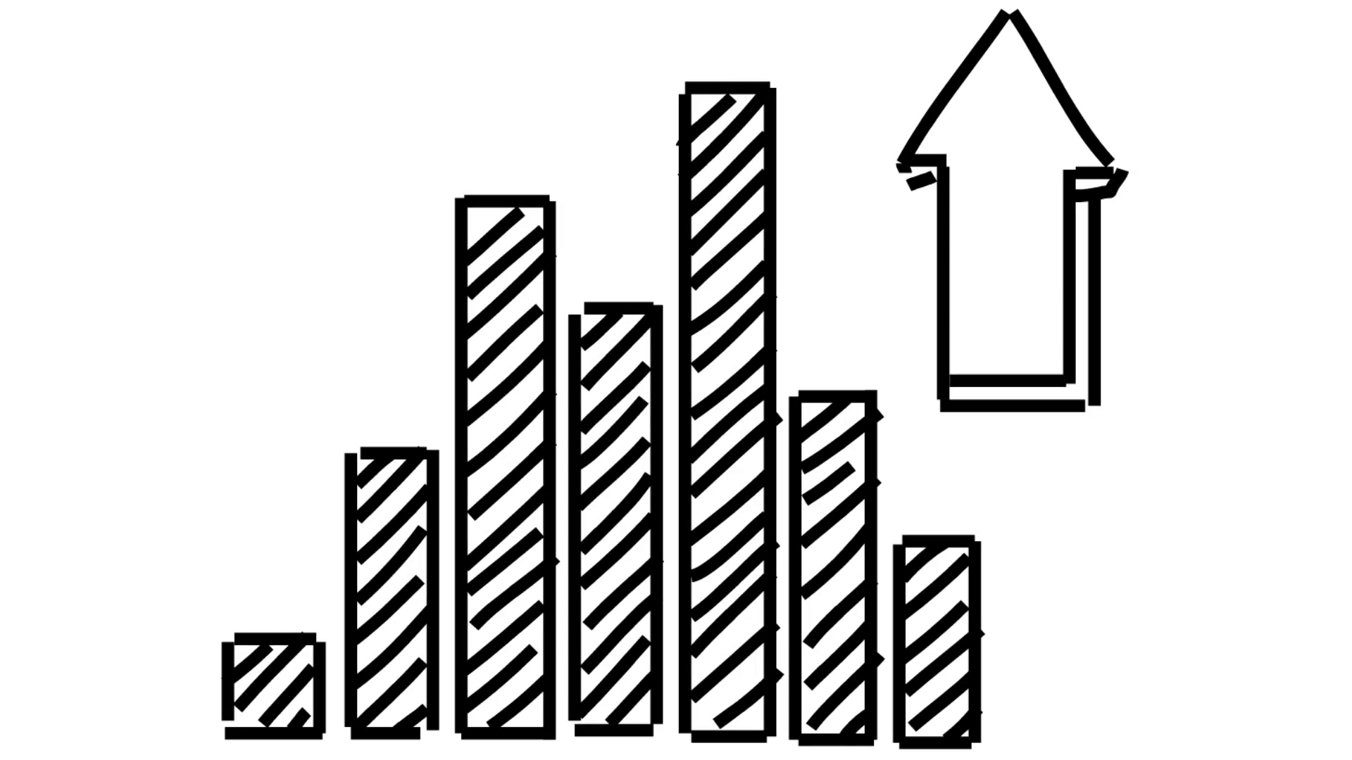 Bars drawing illustration animation. Graph clipart transparent