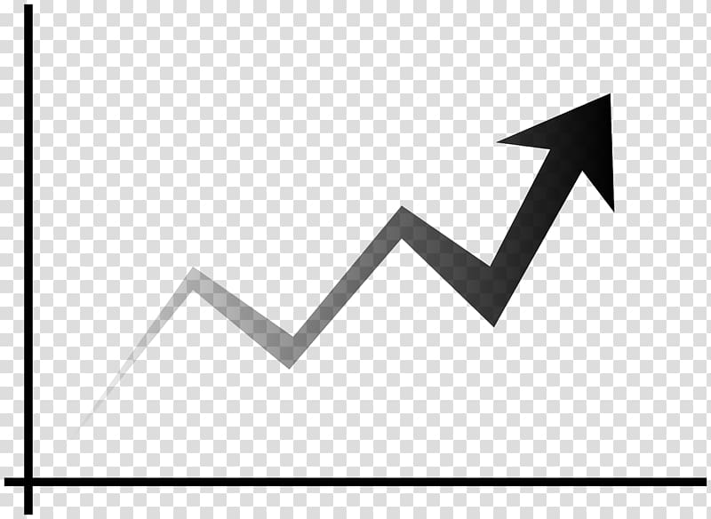 Trend line chart market. Growth clipart growth graph
