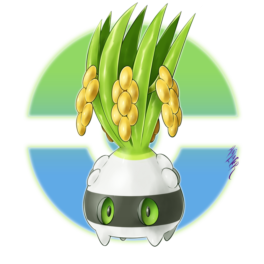 Oryrake the fakemon by. Grass clipart crop