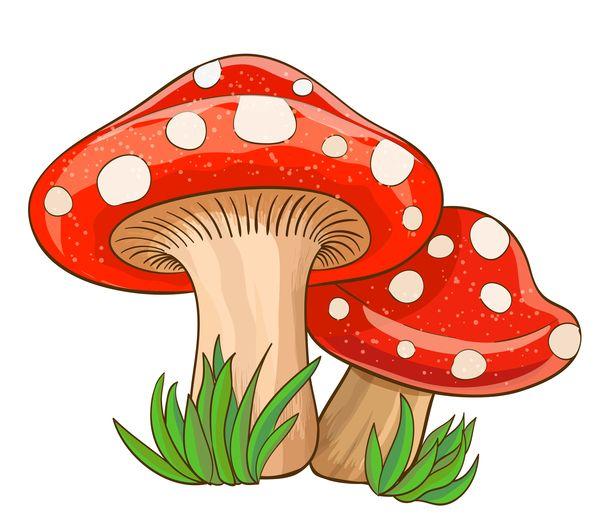 Mushrooms clipart cartoon. Pin on