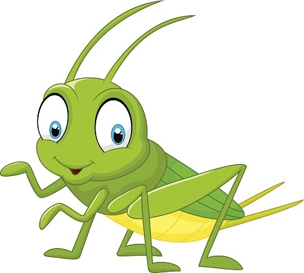 Best of cute letter. Grasshopper clipart
