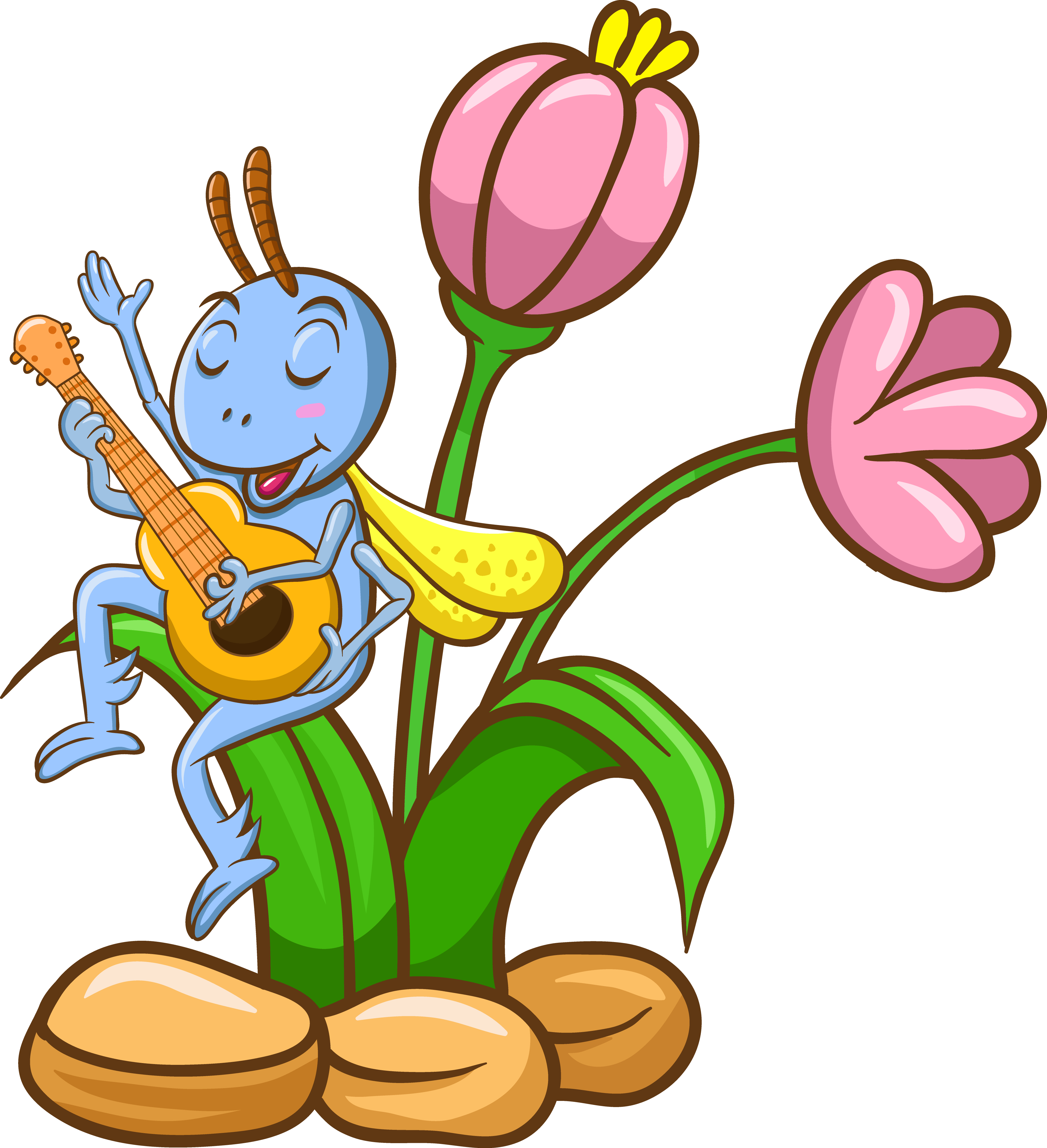 Short clipart insect. The ant and grasshopper