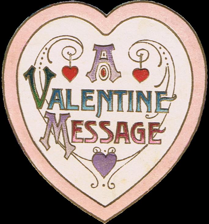 Hut clipart vintage. A valentine message heart