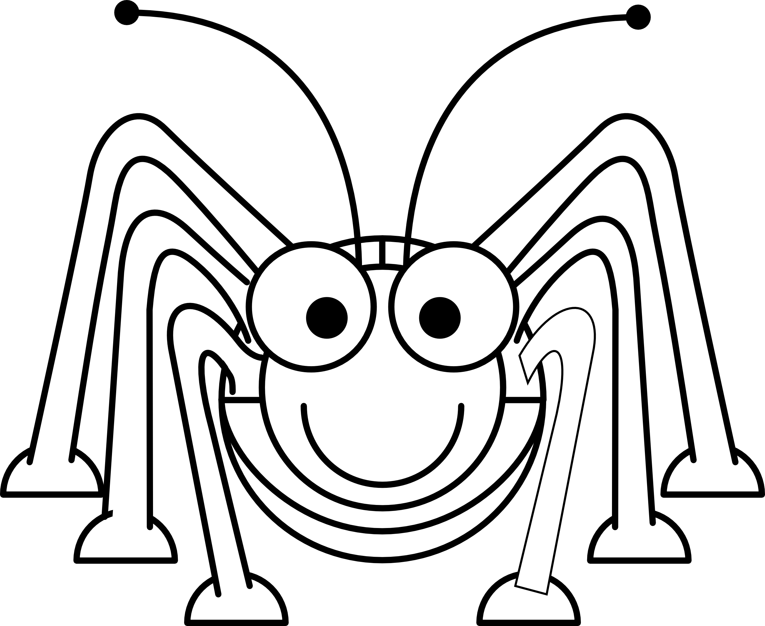 Grasshopper black and white. Worm clipart minibeast