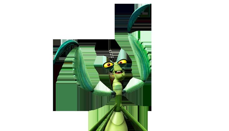 Characters kung fu panda. Insects clipart praying mantis