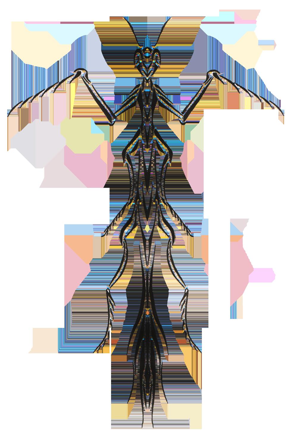 Impressive black mantis tattoo. Mask clipart mosquito