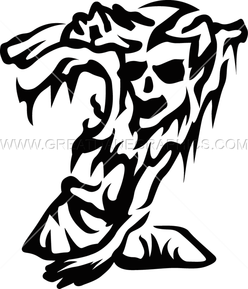 Zombie clipart grave. Production ready artwork for