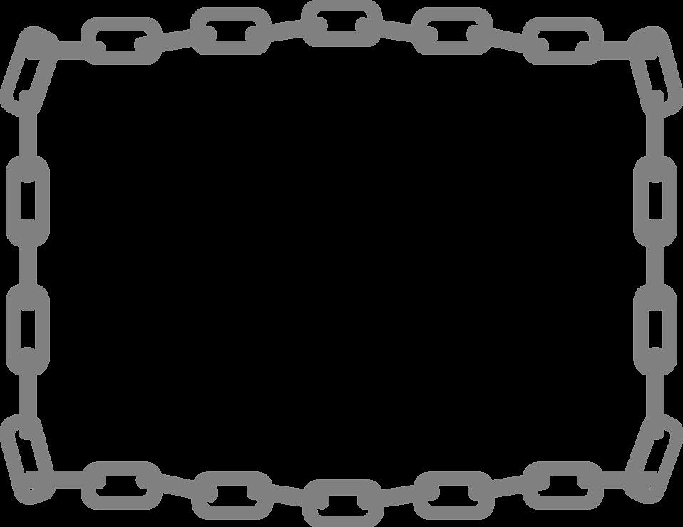 Free stock photo illustration. Chain clipart border