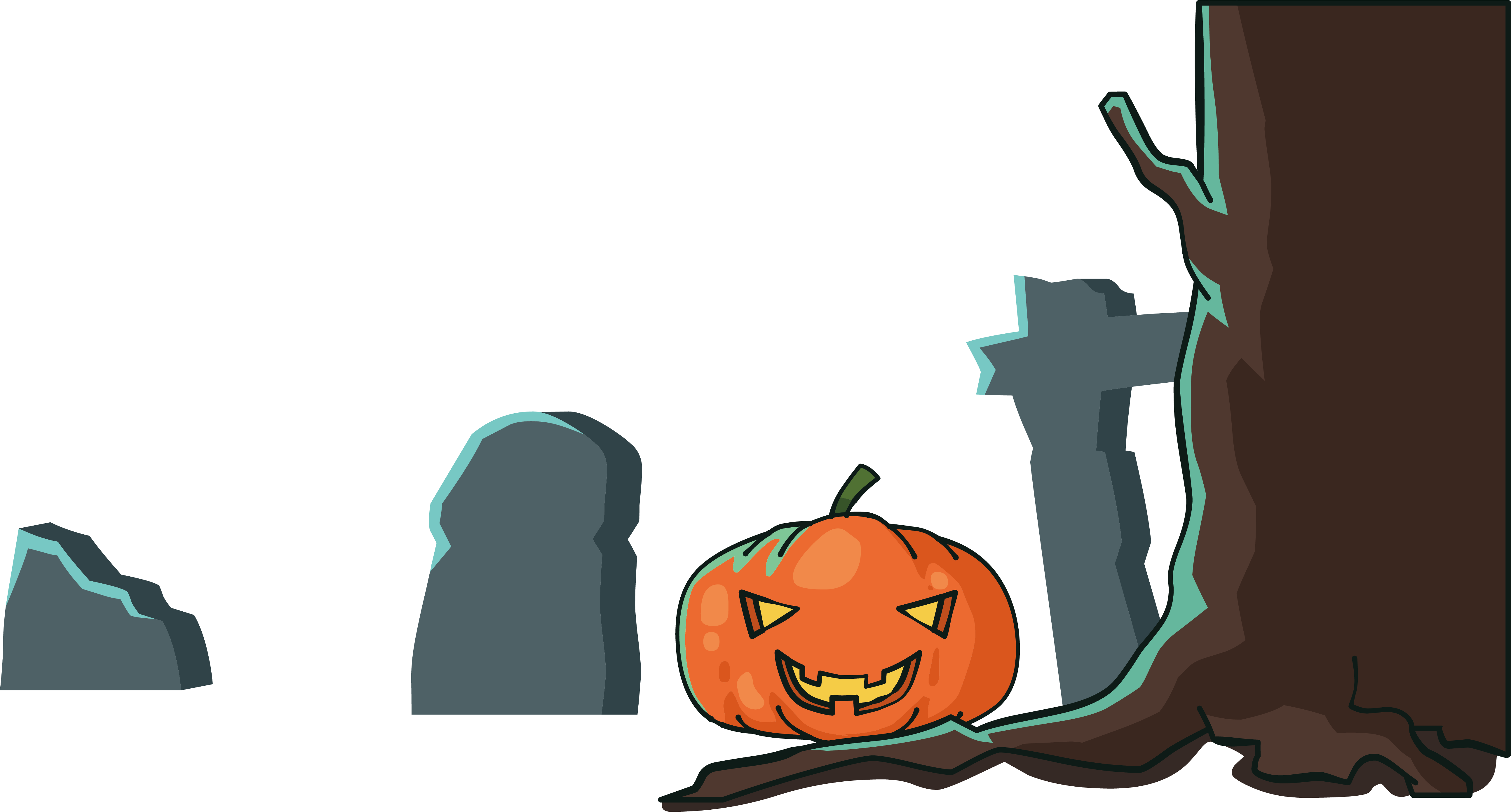 grave clipart scary