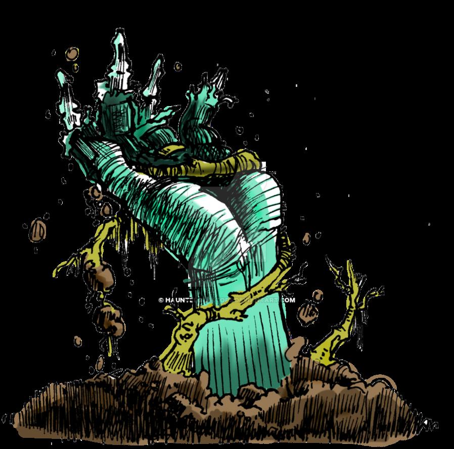 Hand by haunteddesktops on. Zombie clipart grave