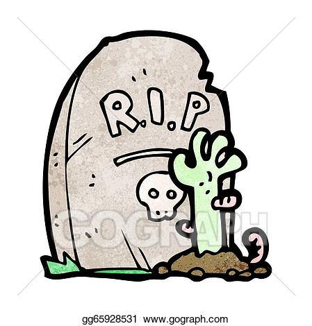 Vector art cartoon rising. Zombie clipart grave