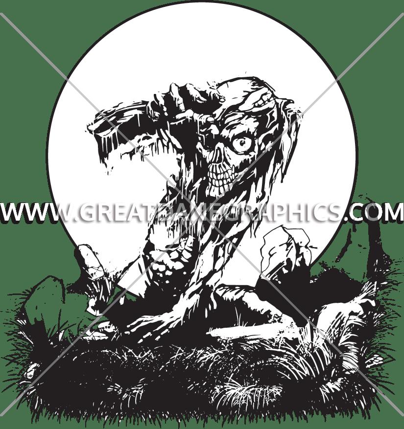 Grave production ready artwork. Zombie clipart zombie graveyard