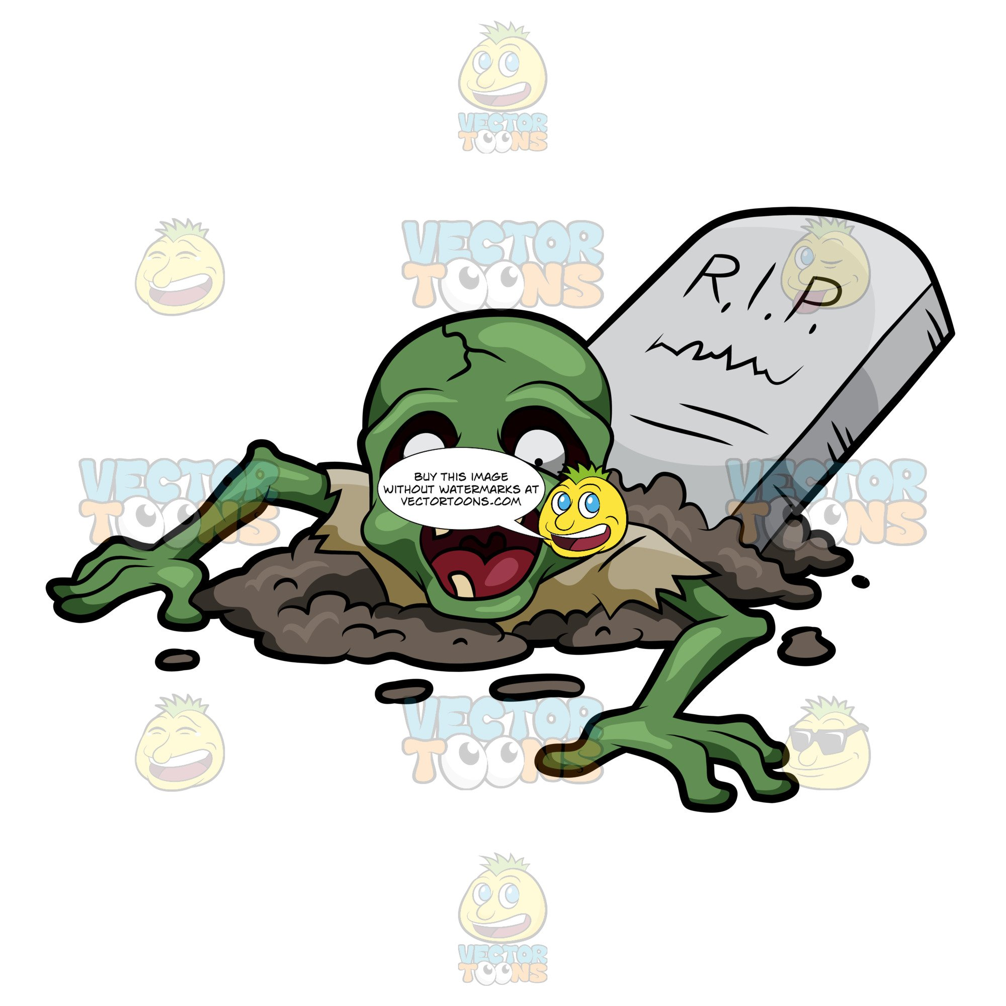 A raised from his. Zombie clipart grave