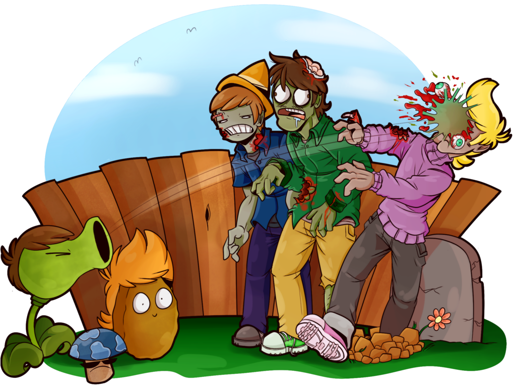 Plants vs zombies by. Zombie clipart werewolf