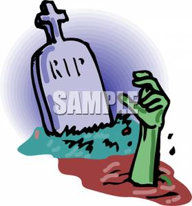 Zombie clipart grave. A hand coming out