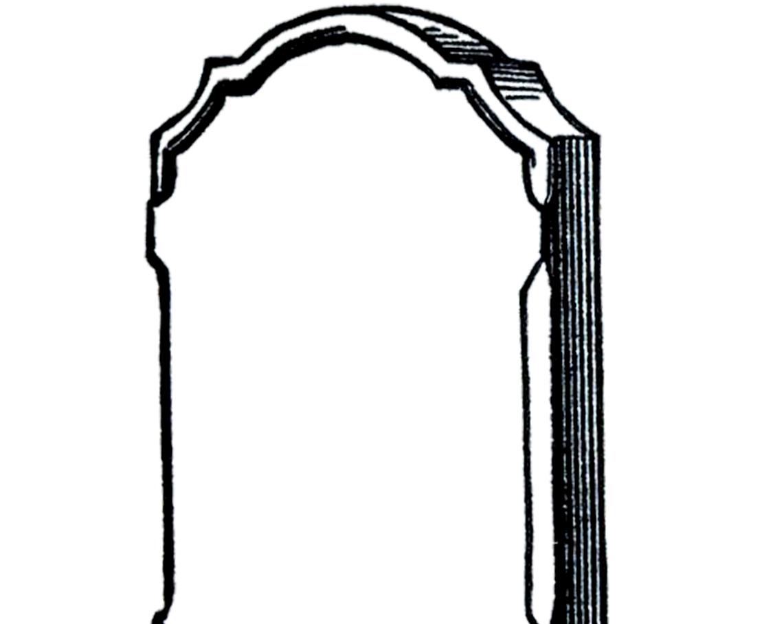 Free vintage gravestone clip. Headstone clipart