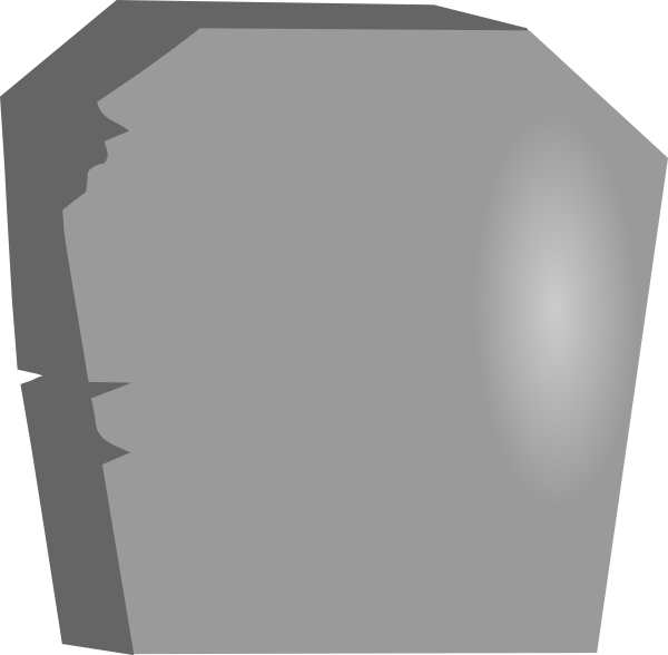 Gravestone clipart. Large blank tombstone clip